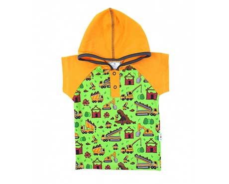 Kurzarm-Raglanshirts mit Kapuze