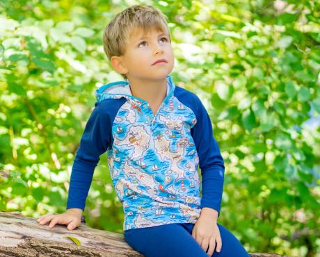 Langarm-Raglanshirts mit Kapuze