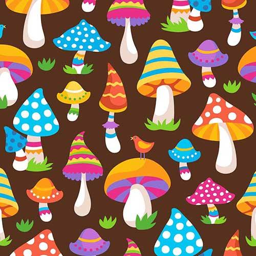 ColorfulMushrooms-Brown