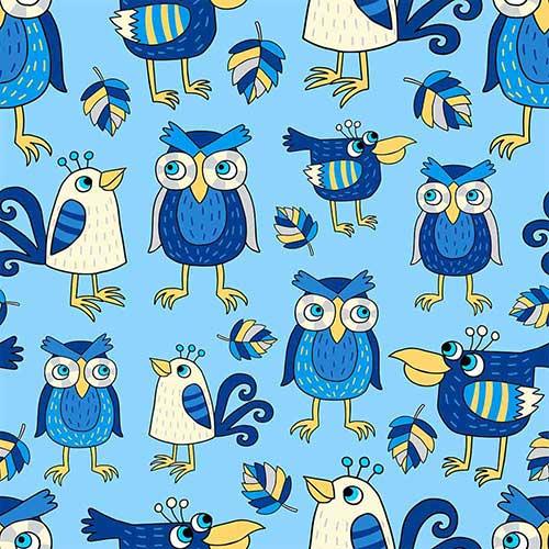 FunnyBirdsAndHoots-Blue