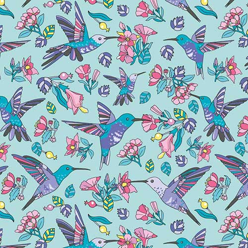 Hummingbirds-Blue