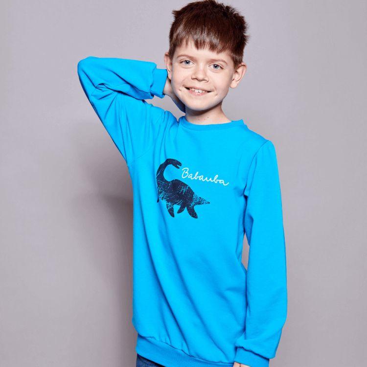 Sweater WildDino-Black-Blue