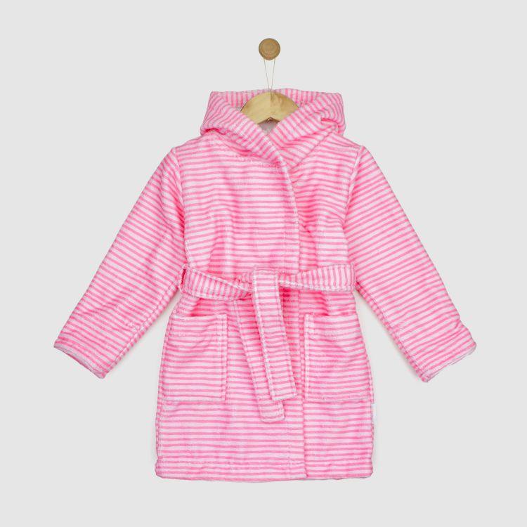 Bademantel  Stripes-Pink