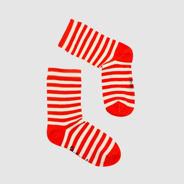 Woman-SockiSocks Stripes-RedCream