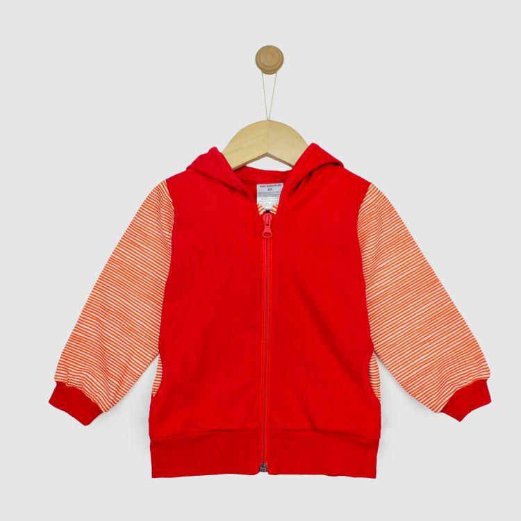 Uni-HoodieH1 Rot-StripeEdition