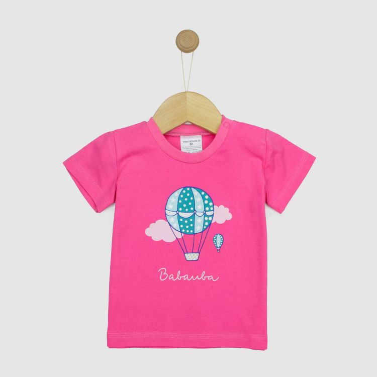 Kurzarmshirt Hero BalloonsInTheSpring-Rosa