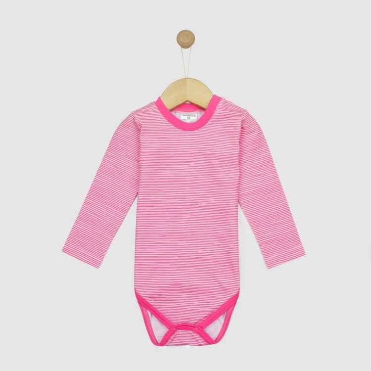 Langarmbody-Extreme Stripes-Pink