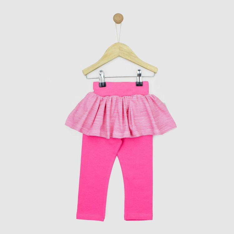 SkinnyPantsRöckchen lang Stripes-Pink