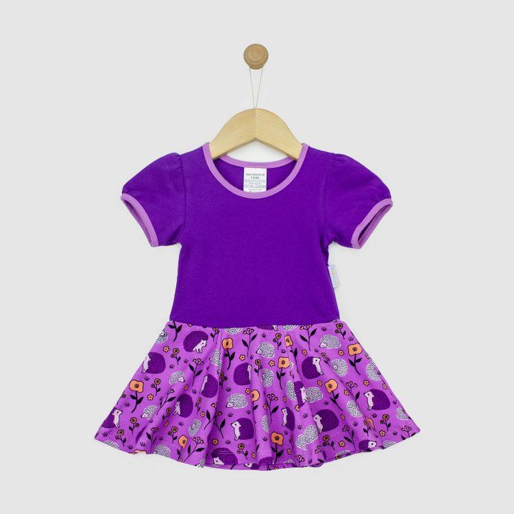 Kurzarm-Drehkleidchen SweetHedgehogs-Purple
