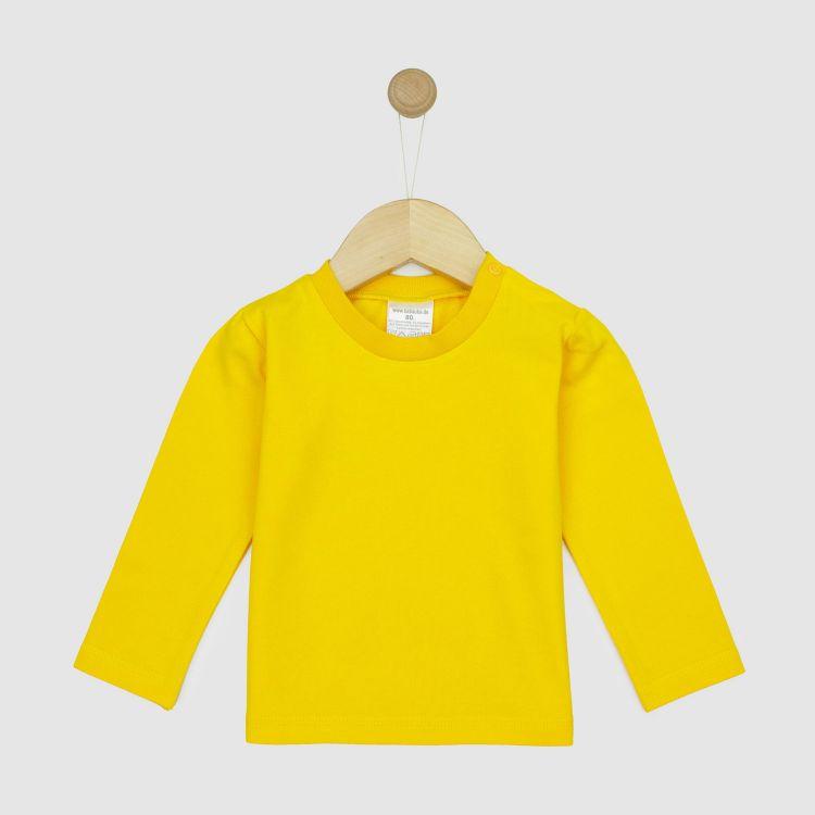 Uni-Langarmshirt Currygelb
