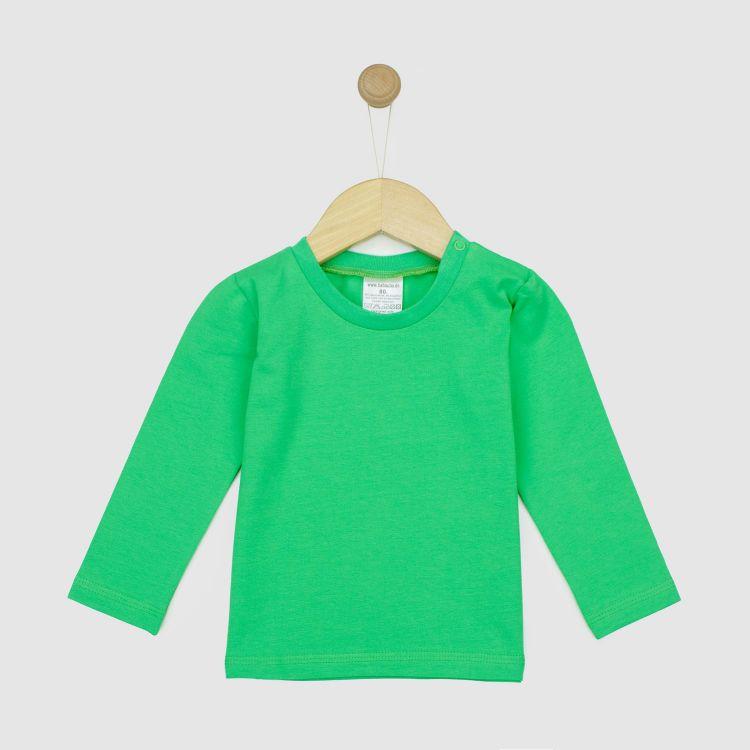 Uni-Langarmshirt Grasgrün
