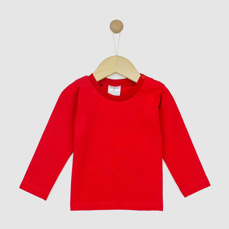 Uni-Langarmshirt Rot