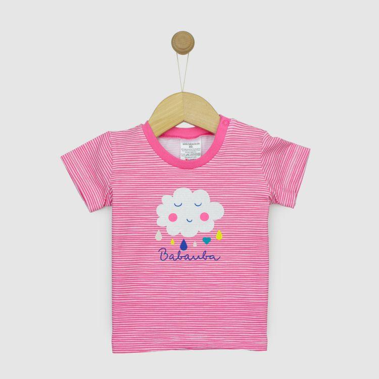 Heroshirt SpringClouds/Stripes-Pink