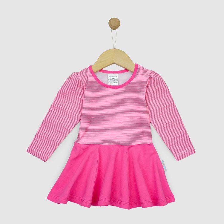 Langarm Drehkleidchen 2.0 Rosa/Stripes-Pink