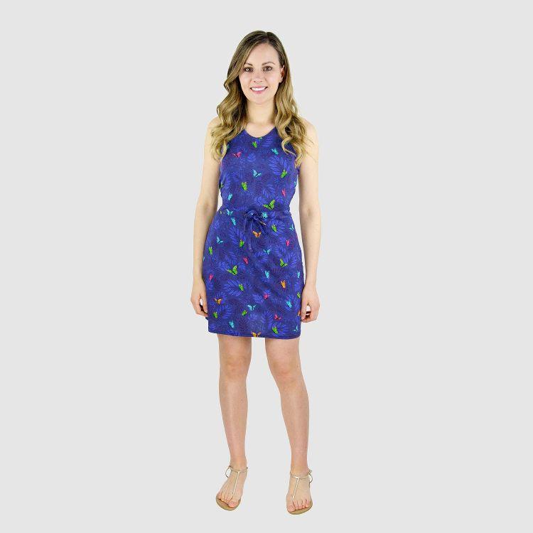 Woman-Dress DreamyButterflies-Blue