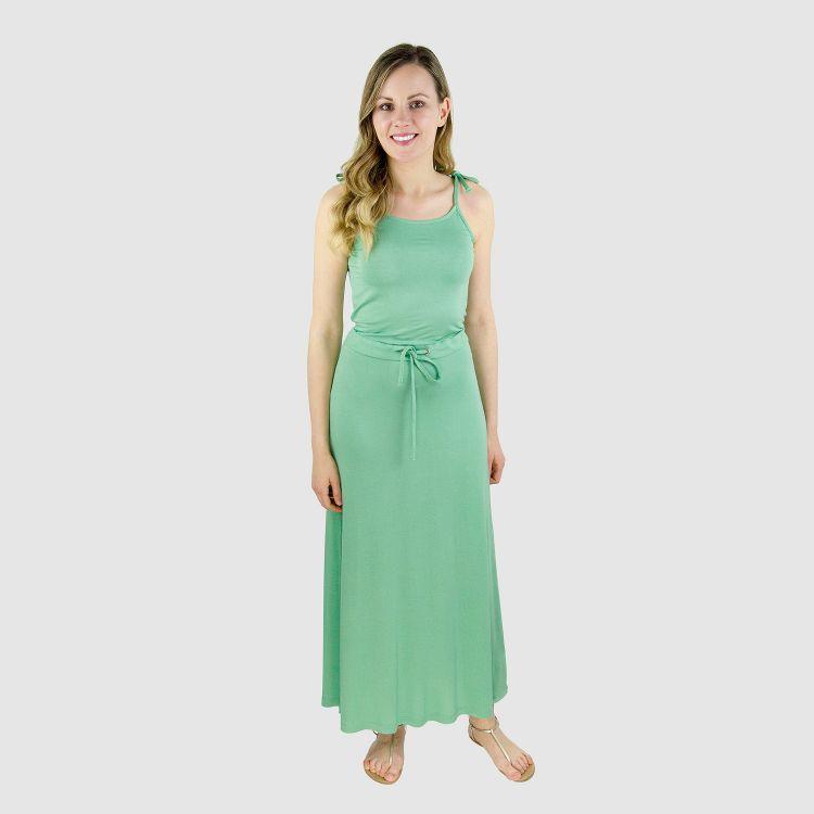 Woman-Long-Dress Lindgrün