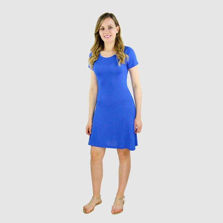 Woman-T-Shirt-Dress Königsblau