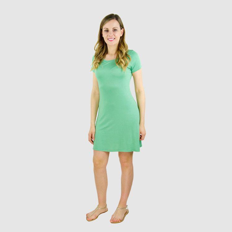 Woman-T-Shirt-Dress - Lindgrün