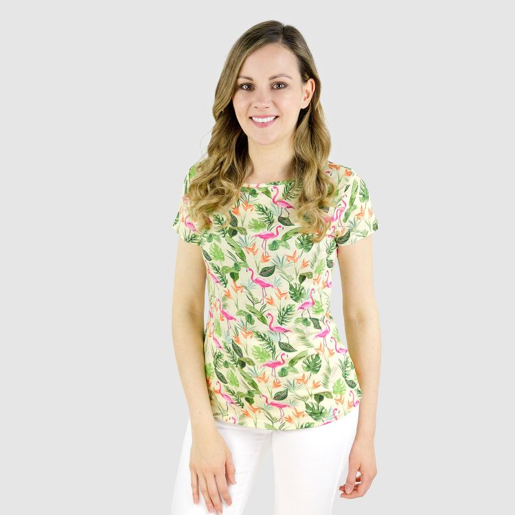 Viskose-Woman-T-Shirt JungleFlamingo