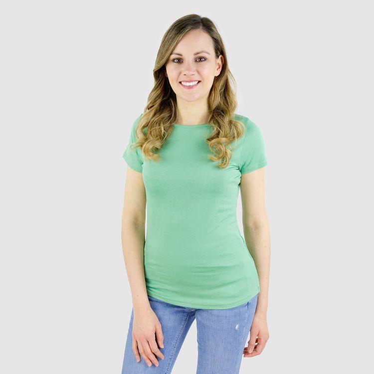Viskose-Woman-T-Shirt Lindgrün