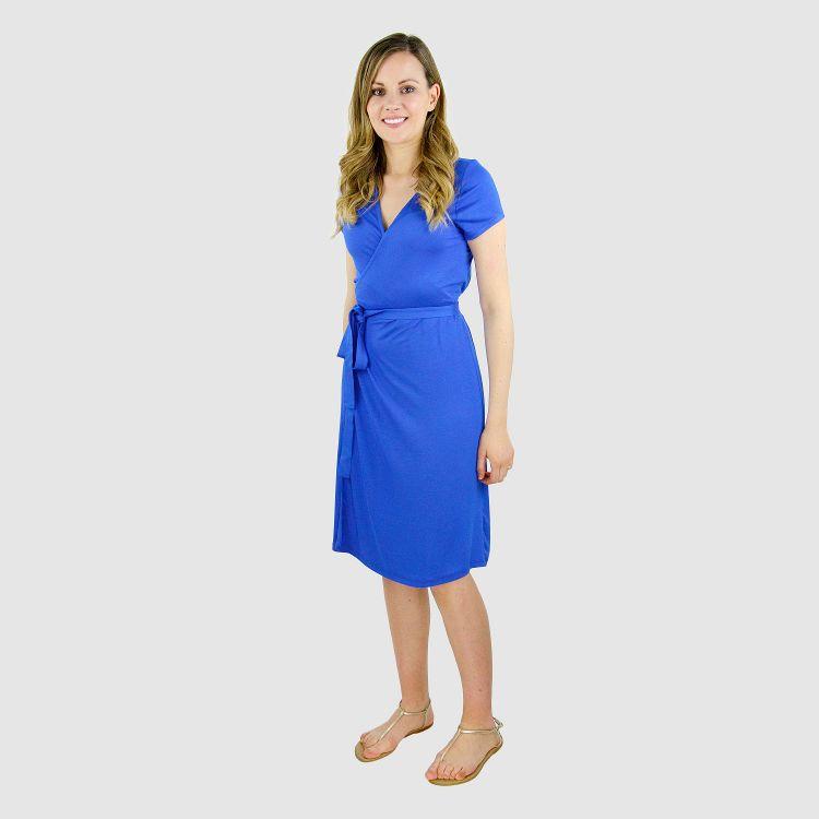 Woman-Wrap-Dress Königsblau