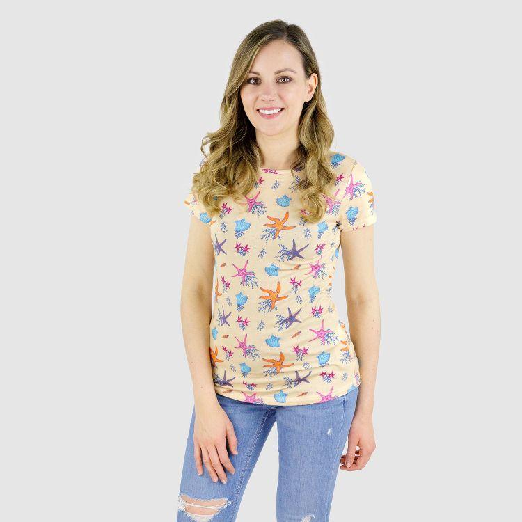 Viskose-Woman-T-Shirt BeautifulOcean-Creme