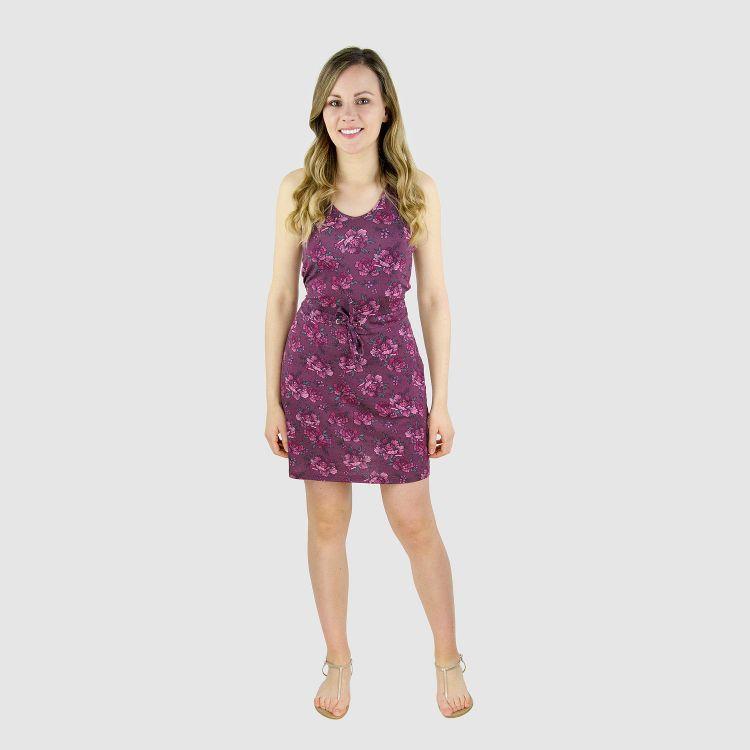 Woman-Dress BeautyFlowers-Aubergine
