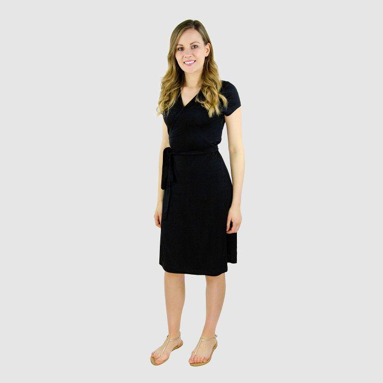 Woman-Wrap-Dress Schwarz
