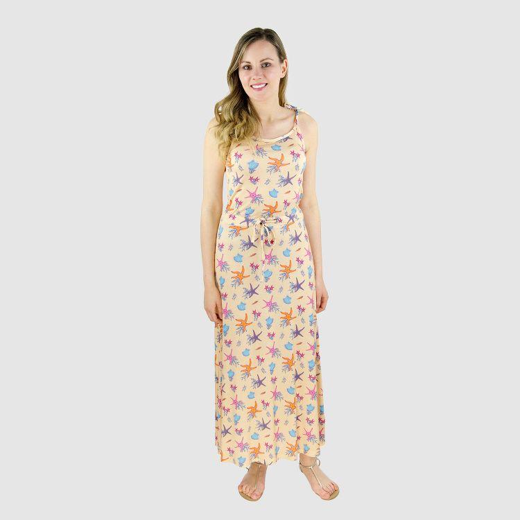 Woman-Long-Dress BeautifulOcean-Creme