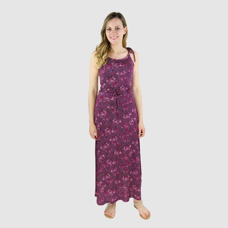 Woman-Long-Dress BeautyFlowers-Aubergine