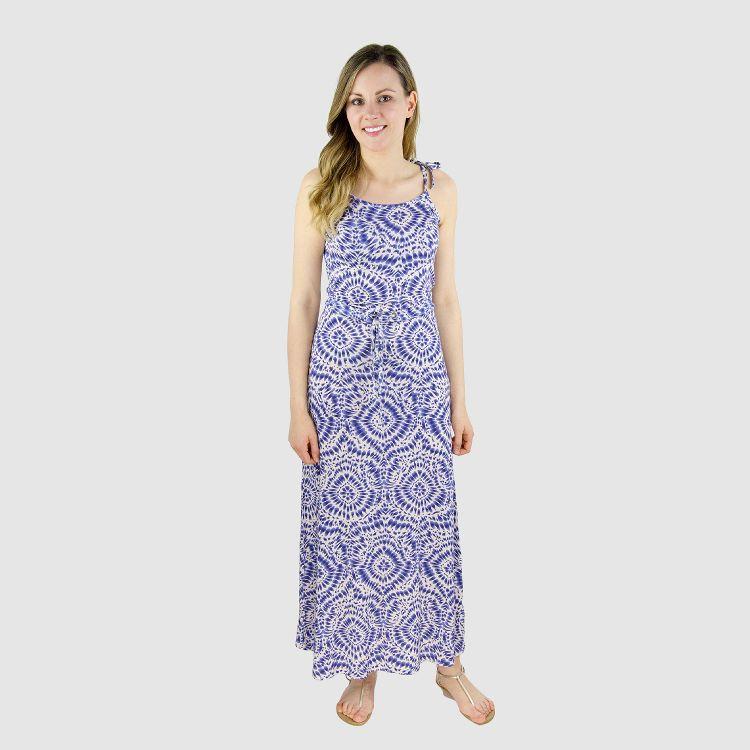 Woman-Long-Dress TieDye-Blue