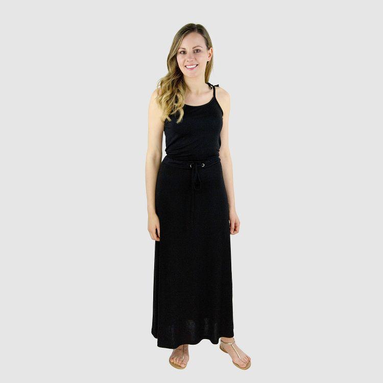 Woman-Long-Dress Schwarz