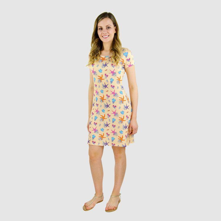 Woman-T-Shirt-Dress BeautifulOcean-Creme