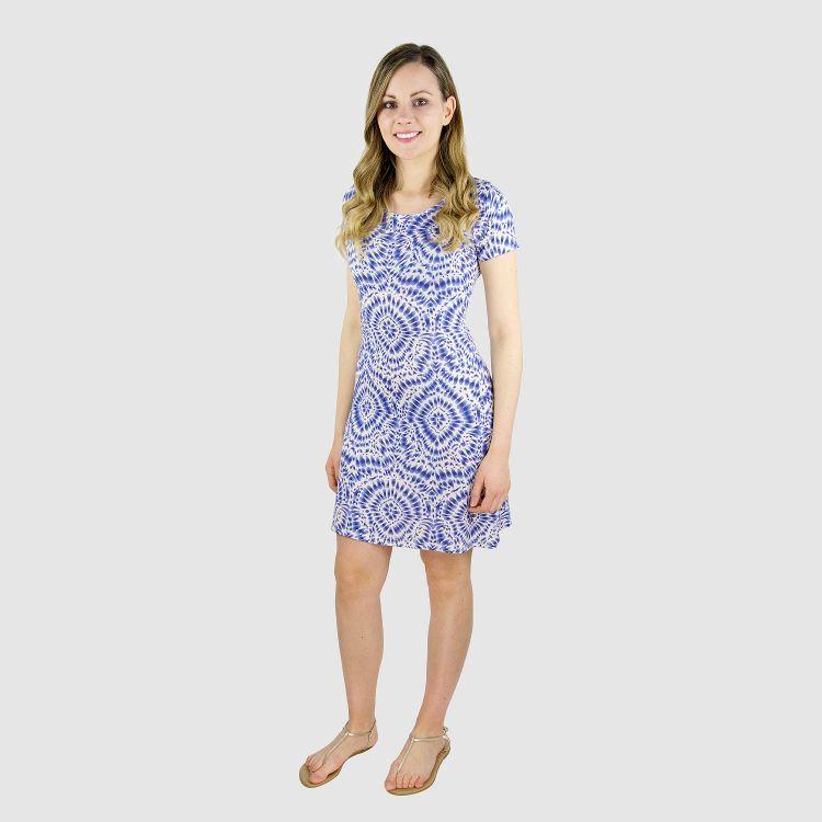 Woman-T-Shirt-Dress TieDye-Blue