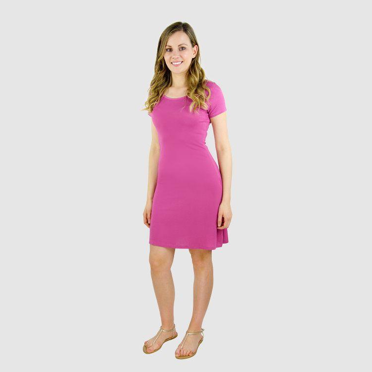 Woman-T-Shirt-Dress Malve