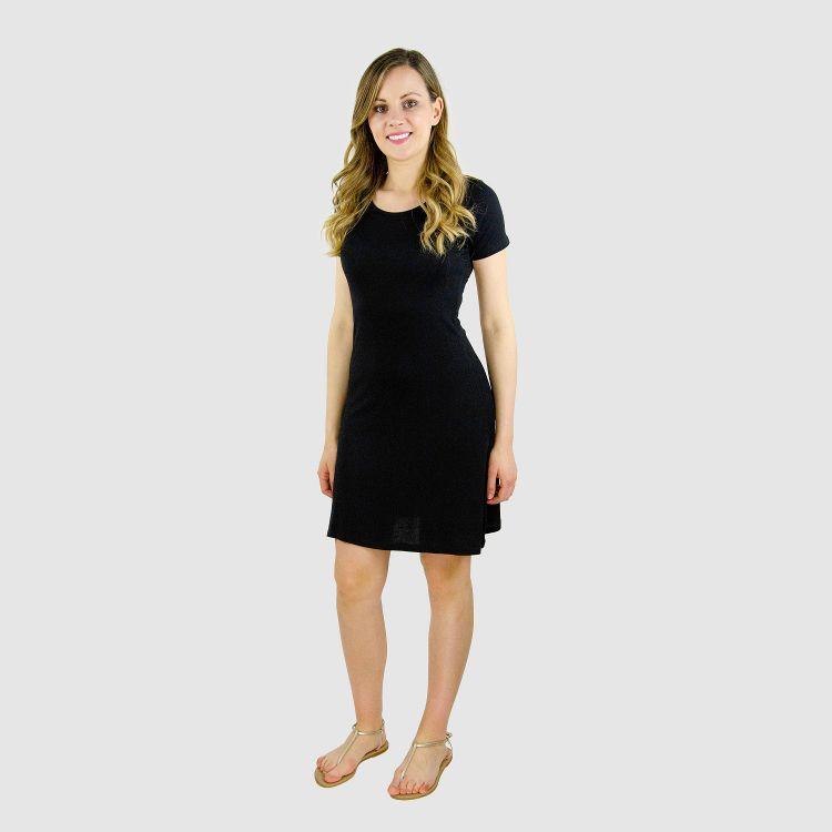 Woman-T-Shirt-Dress Schwarz