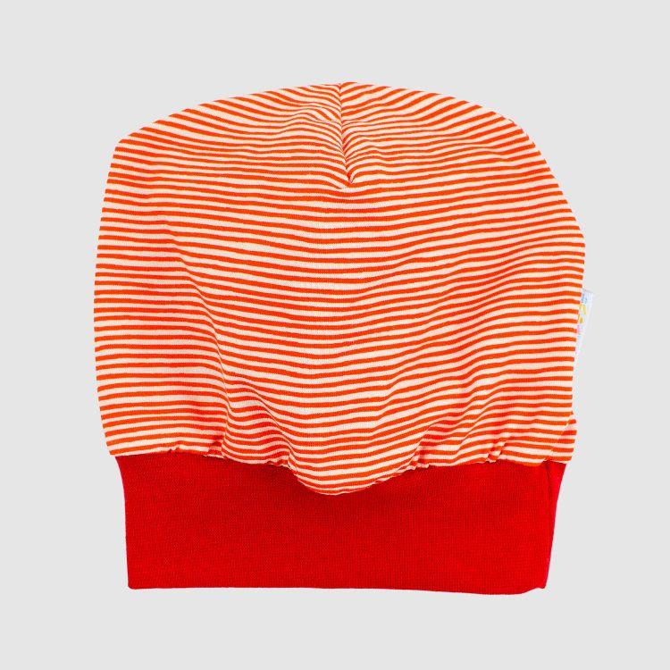 Beanie Stripes-RedCream-Rot