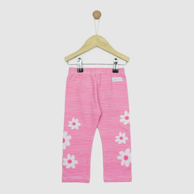SkinnyPants 2.0 Cloverleaves-White/Stripes-Pink