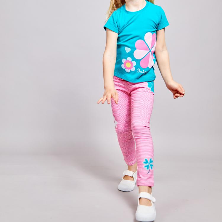 SkinnyPants 2.0 Cloverleaves/Stripes-Pink