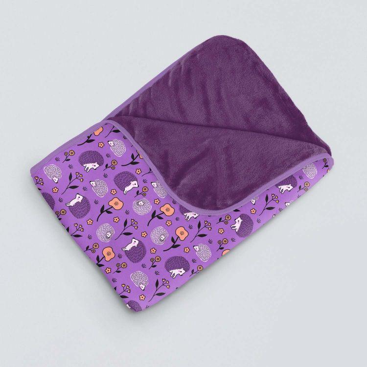 Kuscheldecke SuperXXL SweetHedgehogs-Purple