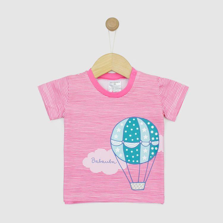 Motivshirt BalloonsInTheSpring-StripesEdition