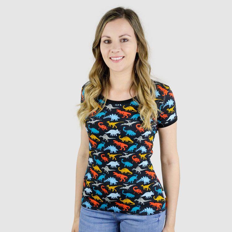 Woman-Shirt WildDinos-Black