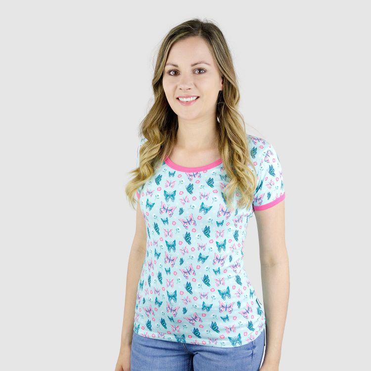 Woman-Shirt ButterfliesAndDaisies