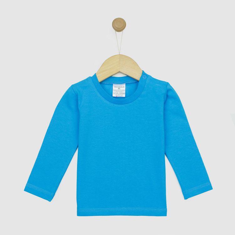 Uni-Langarmshirt Türkisblau