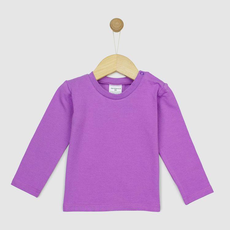 Kids-Uni-Langarmshirt - Lavendel