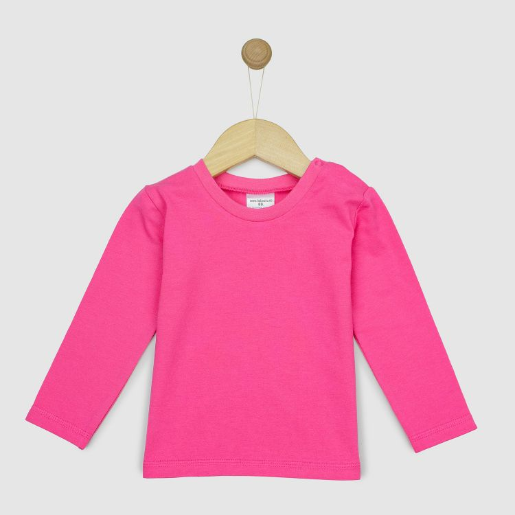 Uni-Langarmshirt Rosa