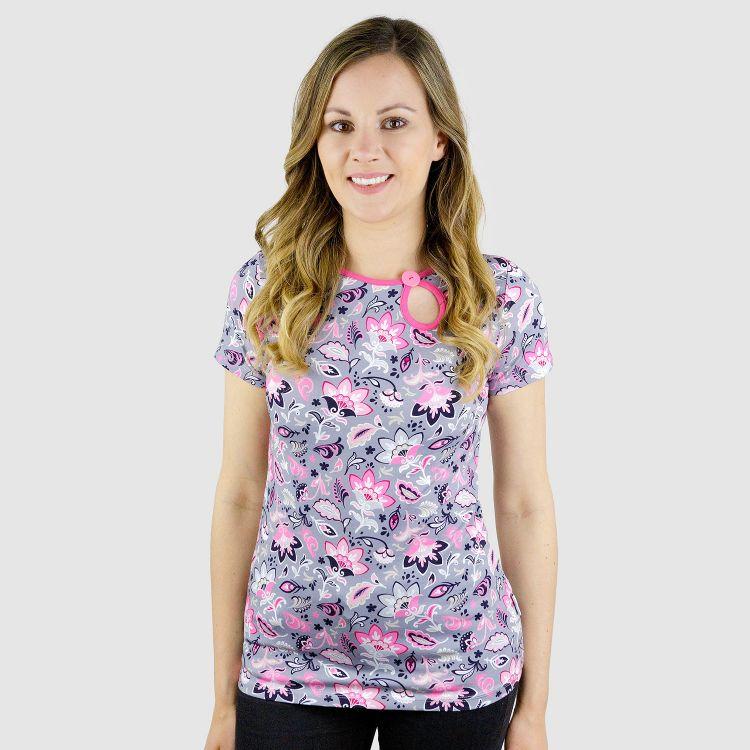 PrettyWomanShirt-Kurzarm PaisleyFlowers
