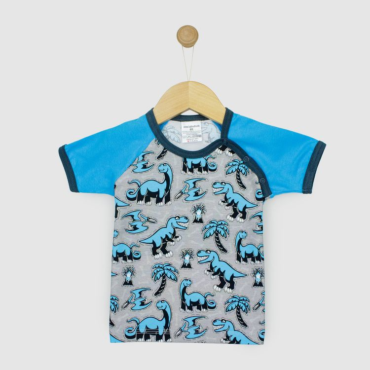 Kids-Raglanshirt-Freshstyle - Dinos-Bluegrey