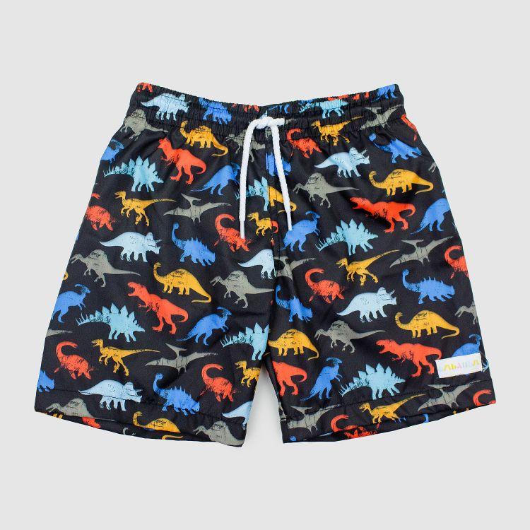 Kids-Swimshorts - WildDinos-Black