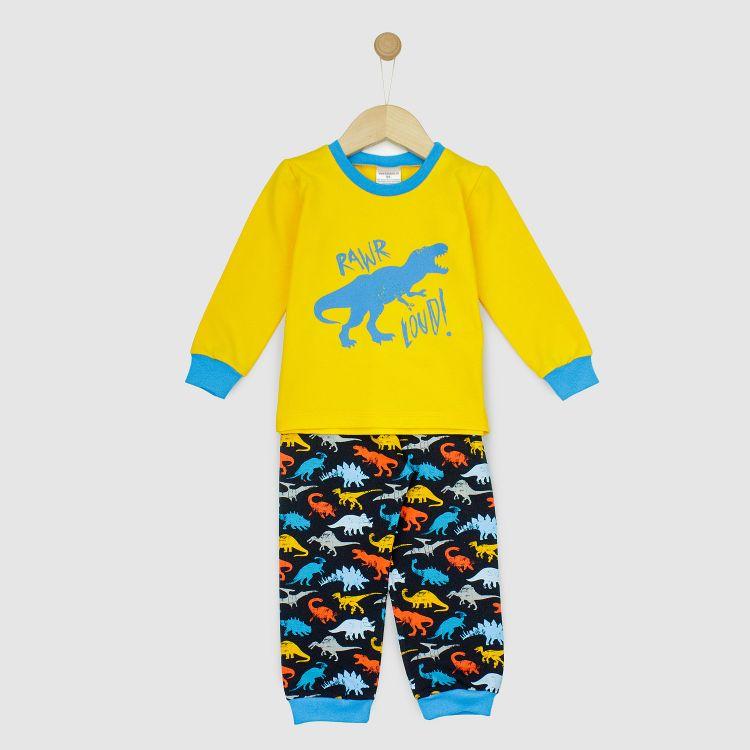Motiv-Pyjama-Set  WildDinos-Gelb